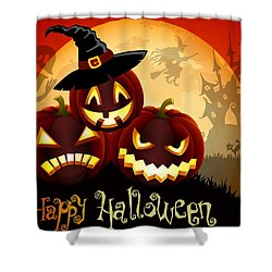 Shower Curtain featuring the painting Happy Halloween by Gianfranco Weiss