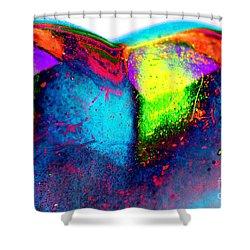 Happy Heart Shower Curtain by Carol Lynch