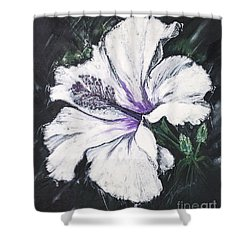 Happy Hibiscus Shower Curtain