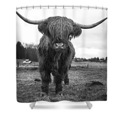 Happy Highland Cow Shower Curtain