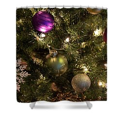 Happy Holidays Shower Curtain