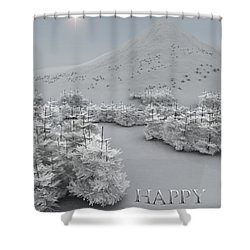 Happy Holidays Shower Curtain by Richard Rizzo