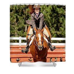 Happy Hunter Horse Shower Curtain