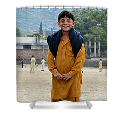 Shower Curtain featuring the photograph Happy Laughing Pathan Boy In Swat Valley Pakistan by Imran Ahmed