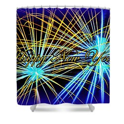 Happy New Year Shower Curtain by The Creative Minds Art and Photography