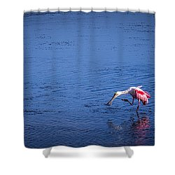 Happy Spoonbill Shower Curtain