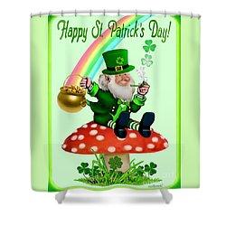 Happy St. Patrick's Day Shower Curtain by Glenn Holbrook