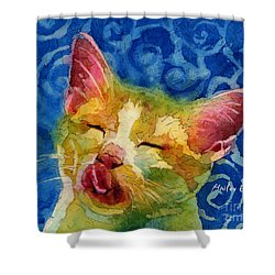 Happy Sunbathing Shower Curtain