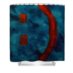 Happy To Be Here  Shower Curtain by Shawn Marlow