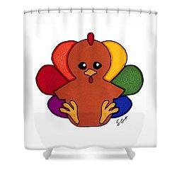 Happy Turkey Day Shower Curtain