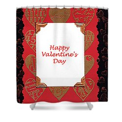 Shower Curtain featuring the photograph Happy Valentines Day Card by Vizual Studio