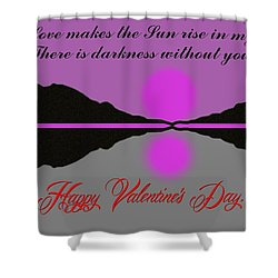 Happy Valentine's Day Shower Curtain by George Pedro