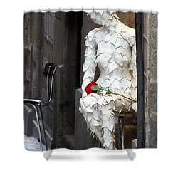 Happy Valentines Day Shower Curtain by Jennifer Wheatley Wolf