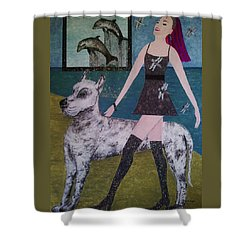 Happy Walk By Jasna Gopic Shower Curtain