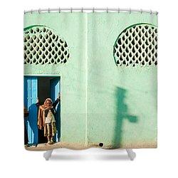 Harar Ethiopia Old Town City Mosque Girls Children Shower Curtain
