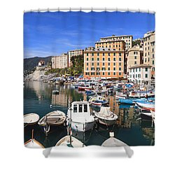 harbor in Camogli - Italy Shower Curtain