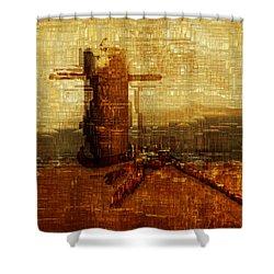 Harbor Shower Curtain by Jack Zulli