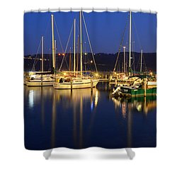 Harbor Nights Shower Curtain by Frozen in Time Fine Art Photography