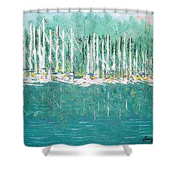 Harbor Shores Shower Curtain by George Riney