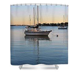 Harbor Sunrise Shower Curtain