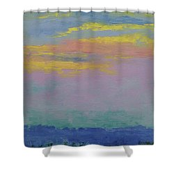 Harbor Sunset Shower Curtain by Gail Kent