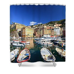 Shower Curtain featuring the photograph Harbor With Fishing Boats by Antonio Scarpi