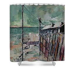 Harbormaster's Home Away From Home Shower Curtain