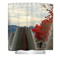 Harborside Fountain Park Shower Curtain