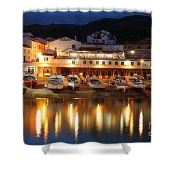 Harbour At Twilight Shower Curtain by Gaspar Avila