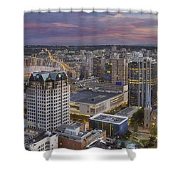Harbour Center Lookout Vancouver Bc Shower Curtain by David Gn
