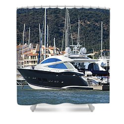 Harbour Docking Scene Shower Curtain