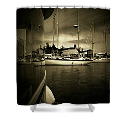 Shower Curtain featuring the photograph Harbour Life by Micki Findlay