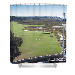 Harbourtown Golf Course 18th Hole Shower Curtain