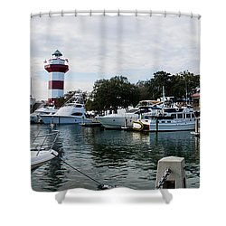 Harbourtown Harbor Shower Curtain