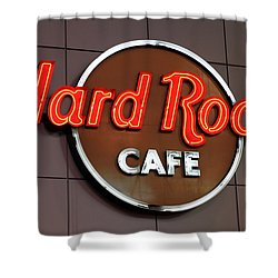 Hard Rock Cafe Sign Shower Curtain