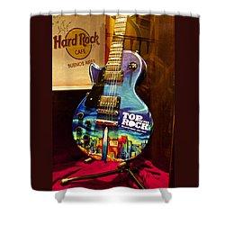 Hard Rock Electric Guitar Shower Curtain