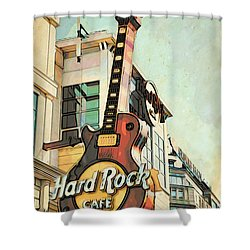 Hard Rock Guitar Shower Curtain