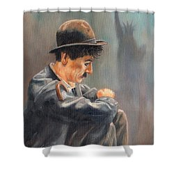 Hard Times Shower Curtain by David Stribbling