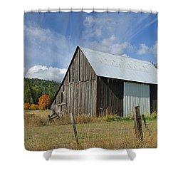 Hardy Creek Road Barn Shower Curtain