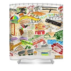 Harlem Collage Shower Curtain