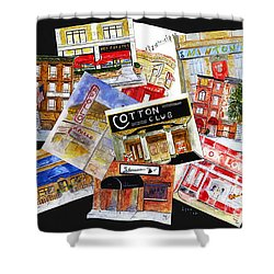 Harlem Jazz Clubs Shower Curtain