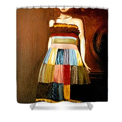 Harlequeen Shower Curtain by Daniele Zambardi