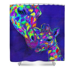Harlequin Giraffes Shower Curtain by Jane Schnetlage