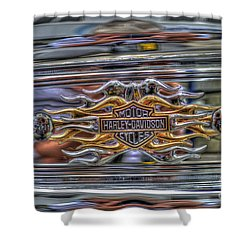 Harley Badge Shower Curtain by Steve Purnell