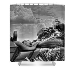 Harley Black And White Shower Curtain