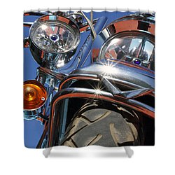 Shower Curtain featuring the photograph Harley Close Up by Shoal Hollingsworth