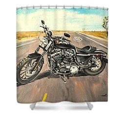 Harley Davidson 883 Sportster Shower Curtain