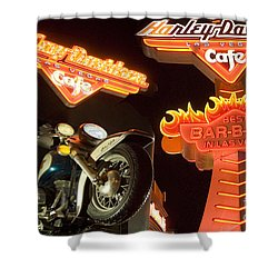 Harley Davidson Cafe Shower Curtain by Bob Christopher