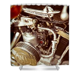 Harley Davidson Closeup Shower Curtain by Carsten Reisinger