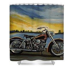 Harley Davidson Duo Glide Shower Curtain
